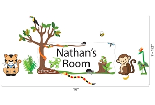 Jungle Scene - Wall Stickers & Door Plaques