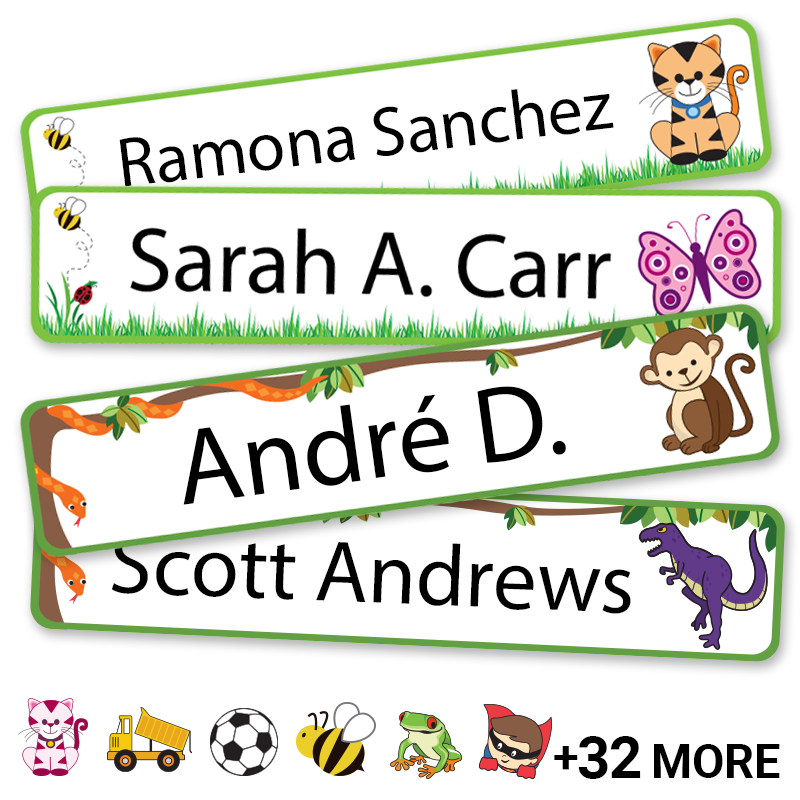 Grassy Jungle labels for kids