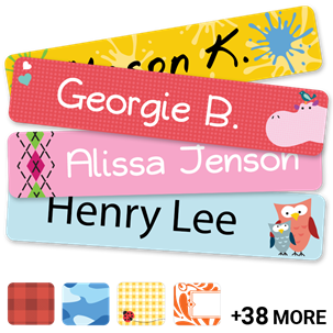classic name labels kids labels labels for kids school camp gear