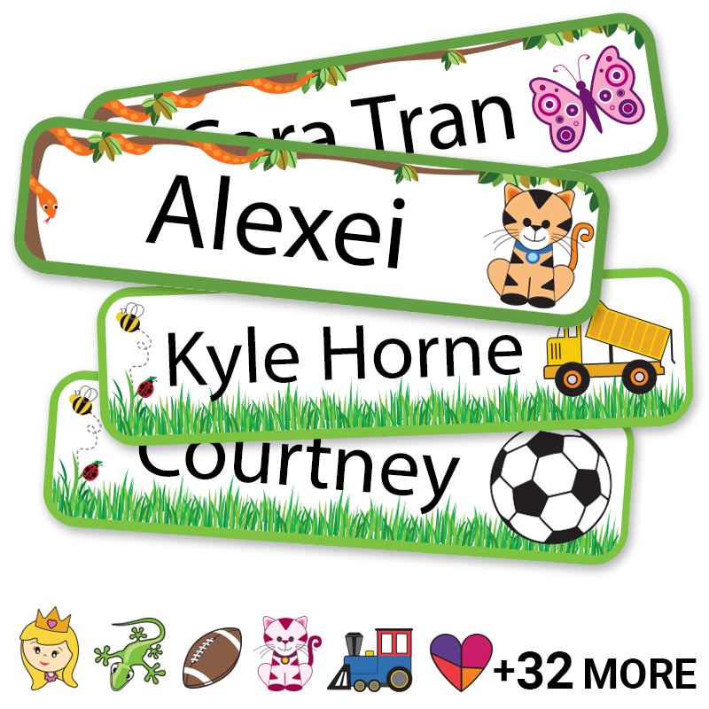 Kids Labels for lunch gear and bento boxes