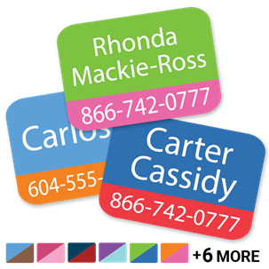 Call Me w/phone - TAG CLOTHING LABELS