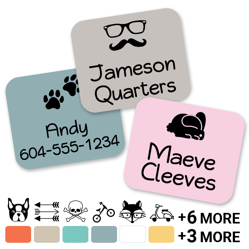 Hipster Clothing labels for kids