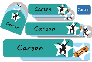 Skateboards (cool) Camp Labels