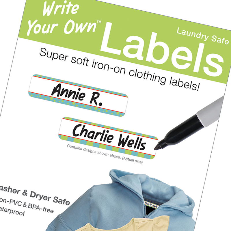 Write on Clothing labels - Write Your Own