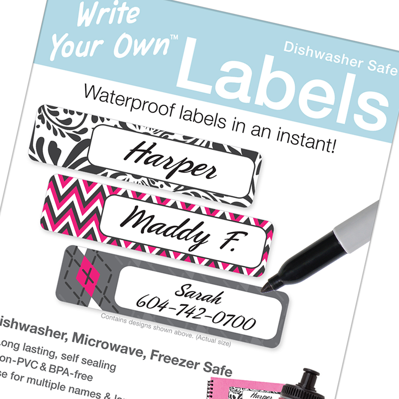 Write on Waterproof labels - Write your Own