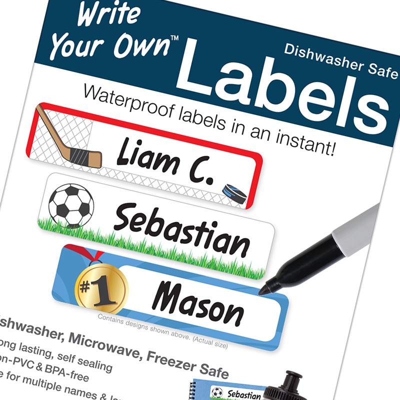Self sealing Write Your Own write on labels