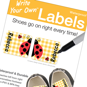 Ladybug Shoe Labels - Write Your Own