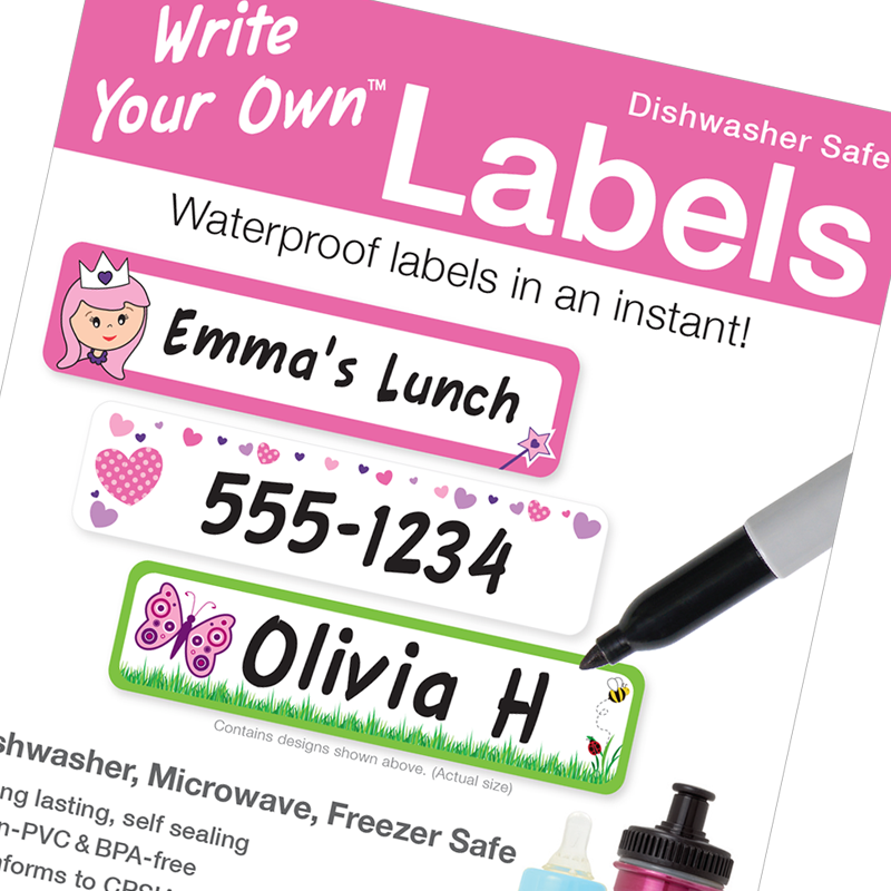 Write Your Own blannk write on labels