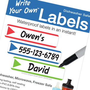 Stripes Primary - Write Your Own Blank Labels