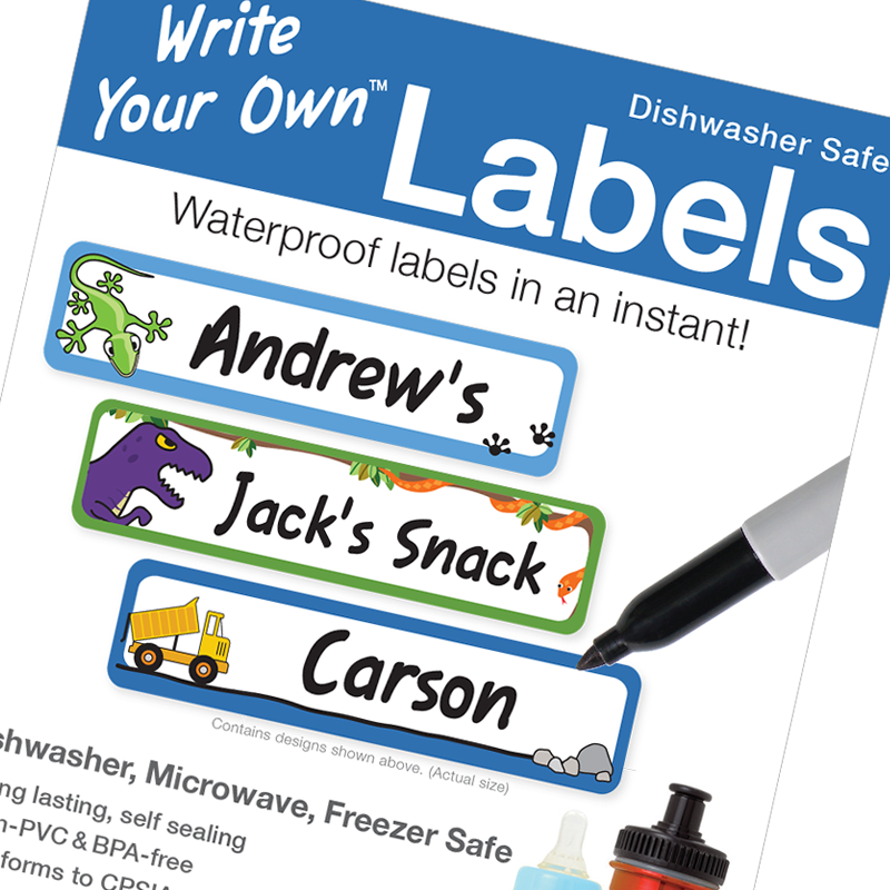 Ecofriendly blank write on labels for kids school