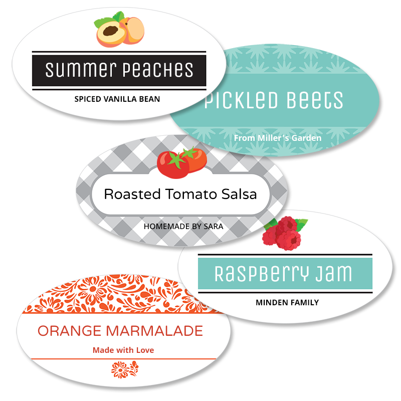 Canning jar labels reusable