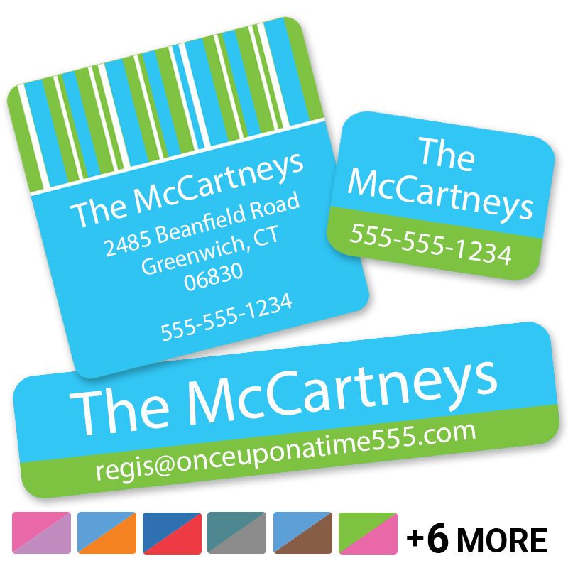 Contact Pack - Stripes Phone Address labels