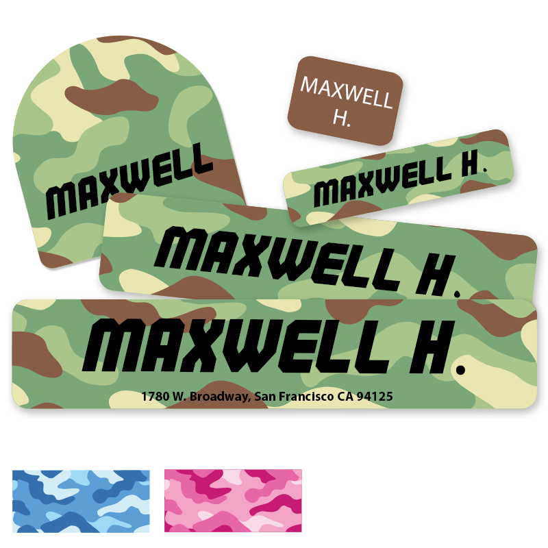 Camouflage labels for Camp