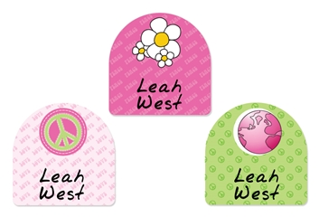 Peace (pinks) Shoe Labels