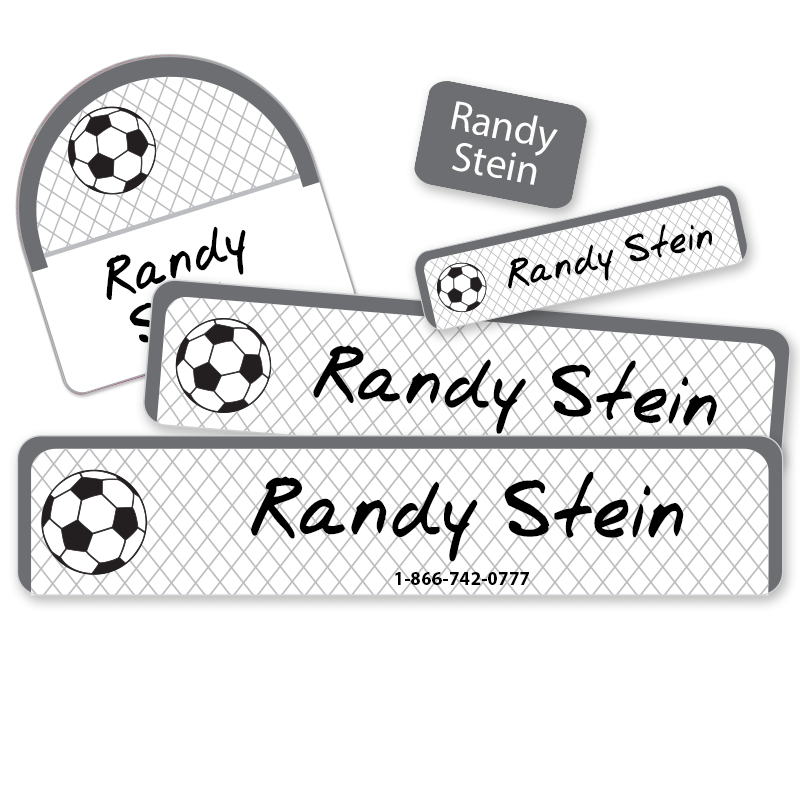 Soccer Net and Ball Camp labels
