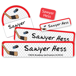Hockey Net- Camp Labels