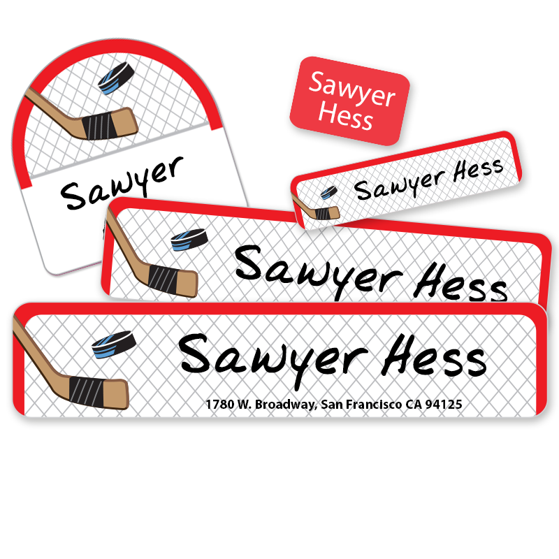 Hockey Net Camp labels