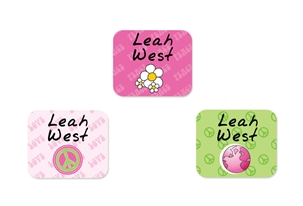 Peace (pinks) Tag-a-Tag Clothing Labels