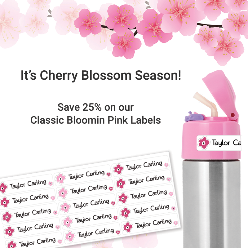 Cherry Blossom labels
