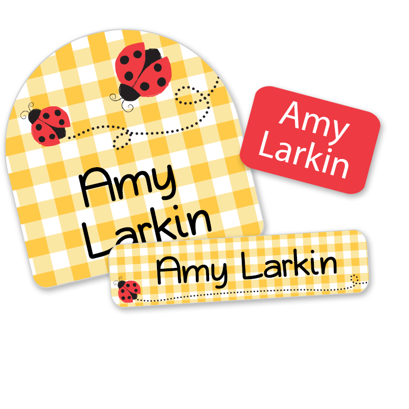 Ladybug Day Camp labels