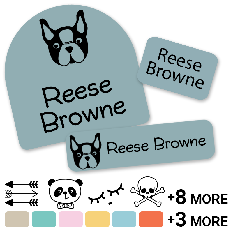 Hipster Dog Day camp labels
