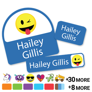 Solids with Icons - DAY CAMP LABELS