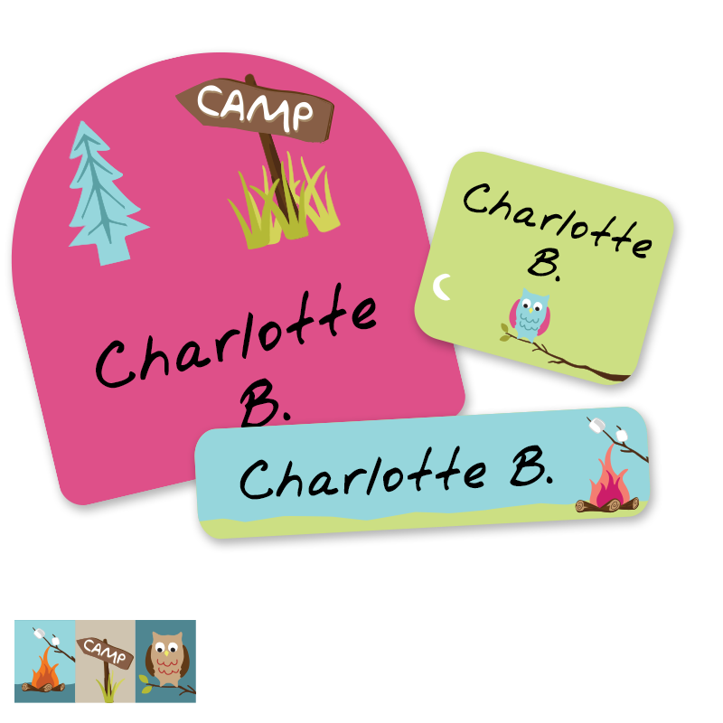 Personalized school labels for kids