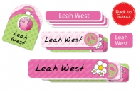 Peace (pinks) Back to School Labels