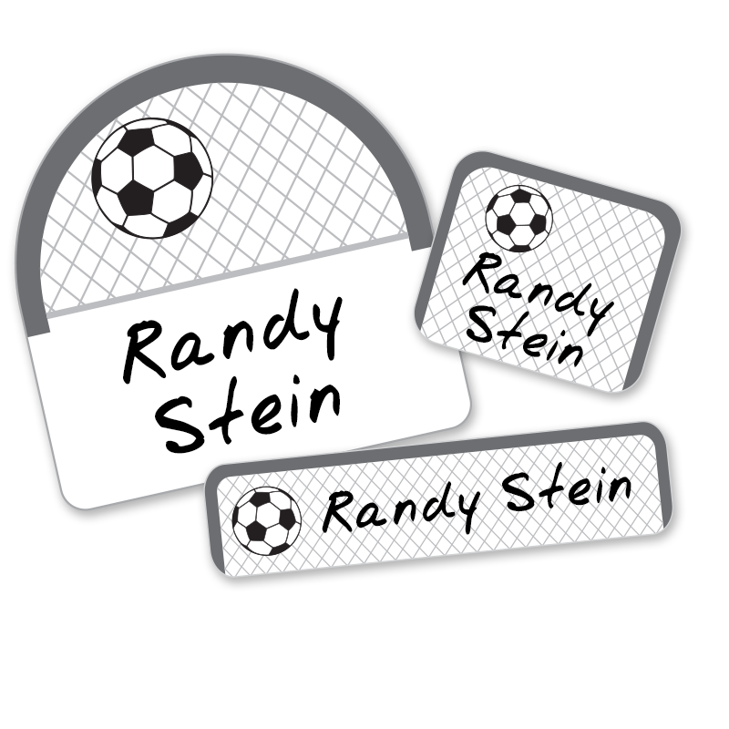 Soccer net labels for school