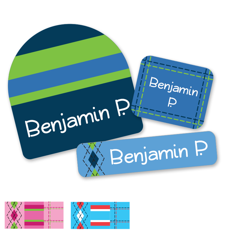Tailored stripes argyle labels for school