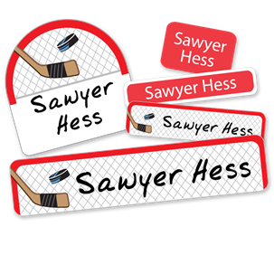 Hockey Net - DELUXE SCHOOL LABELS