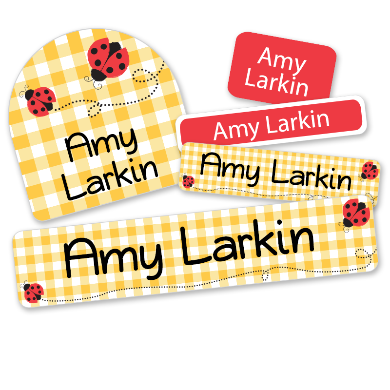 Personalized Ladybug labels for school