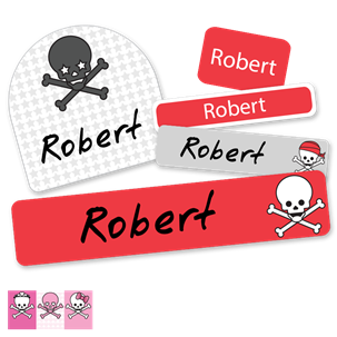 Skulls - DELUXE SCHOOL LABELS