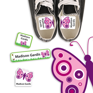 Precious Butterfly - PRESCHOOL KIDS LABELS