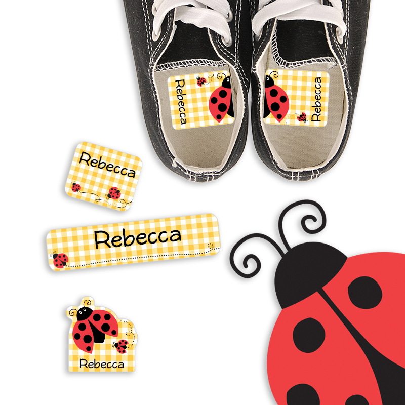 Preschool Labels with Ladybugs for School