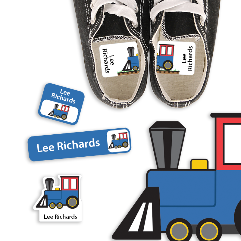 Preschool Labels with Train for Kindergarten