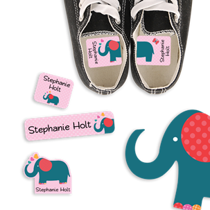 Parade Love Elephant - PRESCHOOL KIDS LABELS