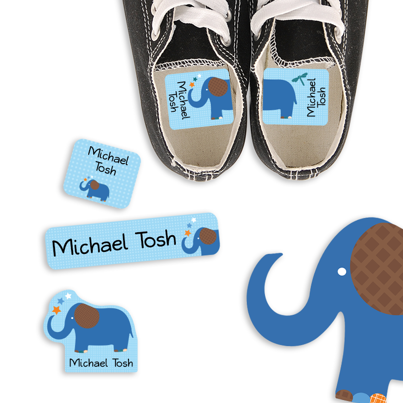 Preschool Labels for Kindergarten Elephant
