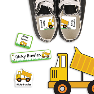Dump Truck - PRESCHOOL KIDS LABELS