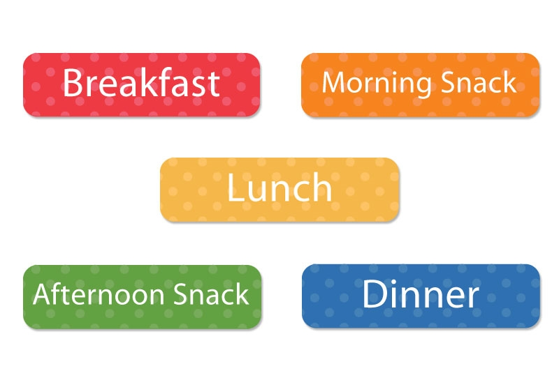 Mealtime Labels - Daycare Labels
