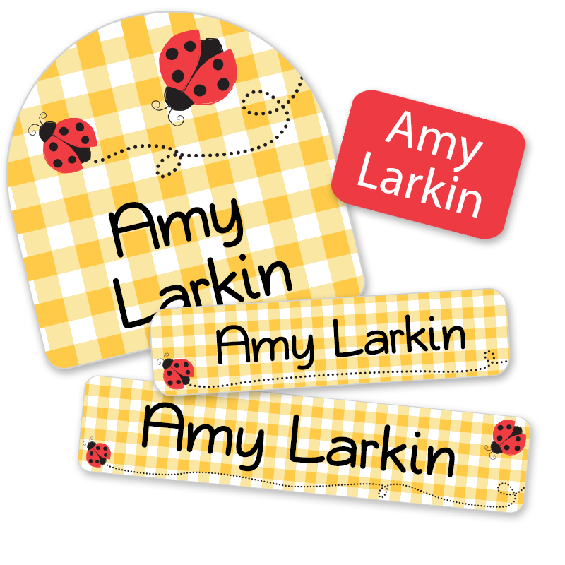 Ladybug labels for daycare