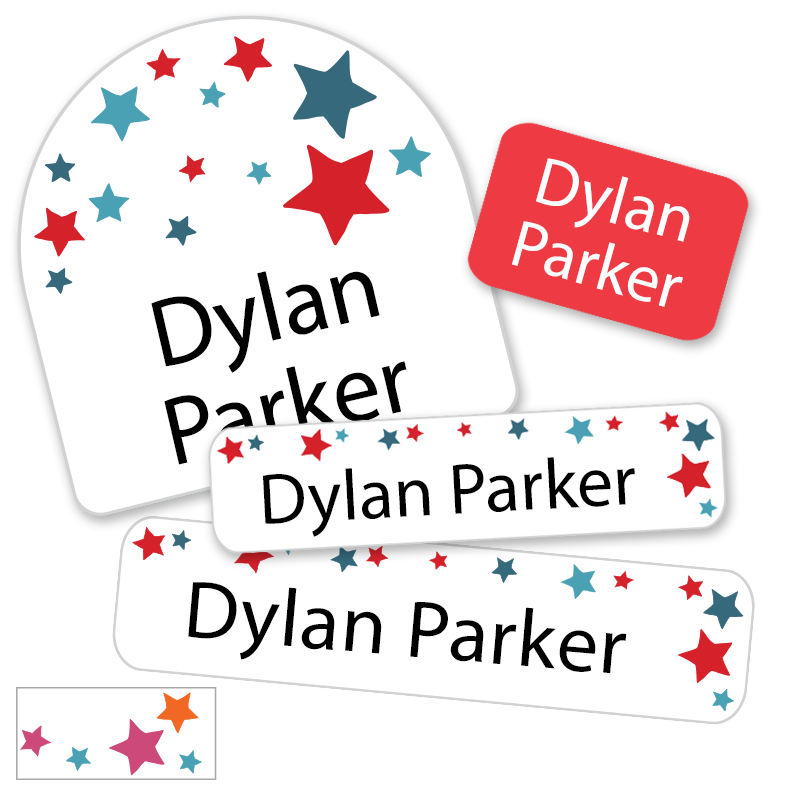 Stars Red White Blue labels