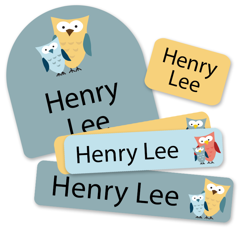 Lil Owls Labels for Daycare