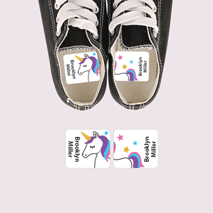 Bella Unicorn - PRESCHOOL SHOE LABELS