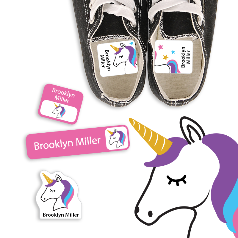 Unicorn Labels for School and Preschool