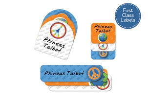 Peace sunset - First Class School Labels