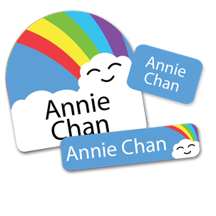 Rainbow  Cloud- DAY CAMP LABELS