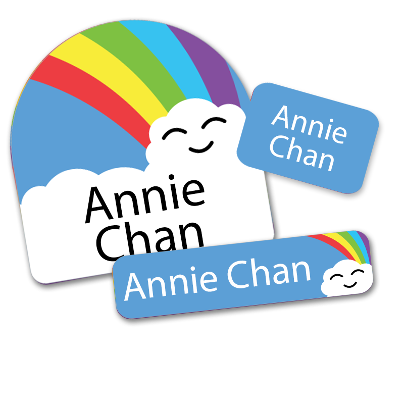 Rainbow Cloud labels