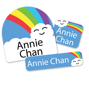 Rainbow Cloud - FIRST CLASS SCHOOL LABELS