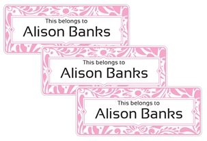 Filigree posie - Book Labels
